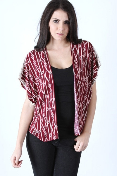 Don't Worry Baby Cardigan - Burgundy