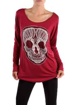 PS Plus Long Sleeve Skull Patch Tee