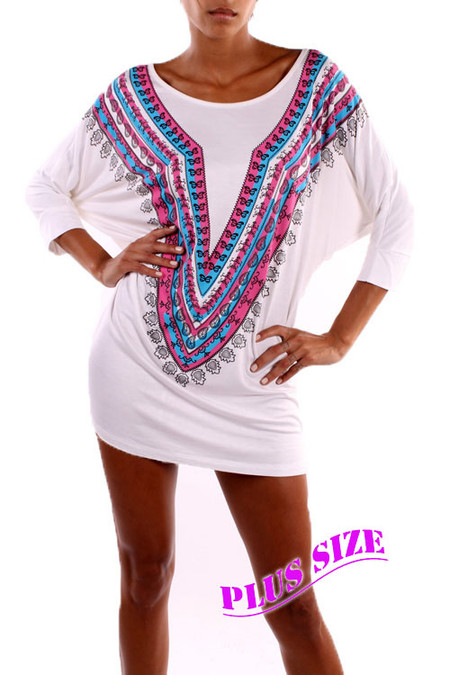 PS Plus Groovin' Tunic Top/Dress - Ivory