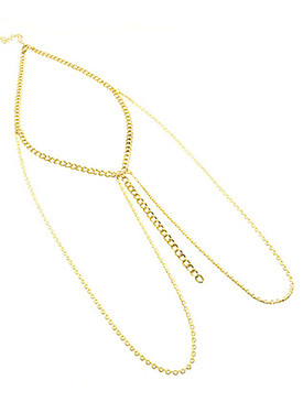 NECKLACE / MULTI CHAIN / MULTI LAYER / LINK / 6 INCH DROP / 18 INCH LONG / NICKEL AND LEAD COMPLIANT