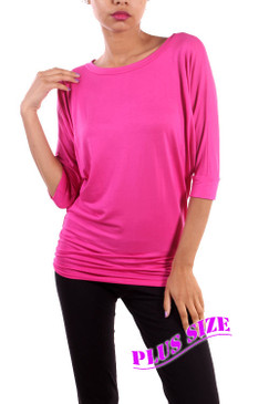 PS Plus Piko Style Top - Fuchsia
