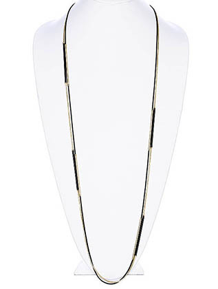 NECKLACE / DOUBLE STRANDED / LINK / METAL / EPOXY COATED / 42 INCH LONG / NICKEL AND LEAD COMPLIANT