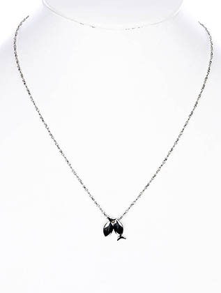 NECKLACE / LINK / METAL / FISH / 2/3 INCH DROP / 18 INCH LONG / NICKEL AND LEAD COMPLIANT