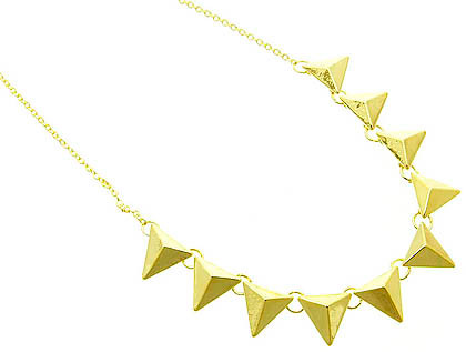 NECKLACE / LINK / METAL / SPIKES / 20 INCH LONG / 1/2 INCH DROP / NICKEL AND LEAD COMPLIANT