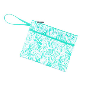 Poolside Palm Zip Pouch Wristlet