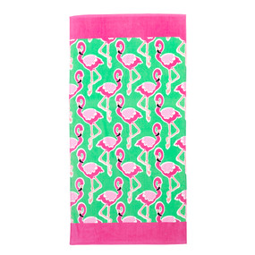 Flamingle Beach Towel