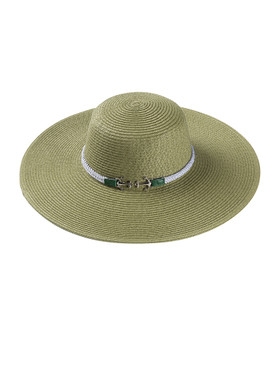 HAT AND CAP / ANCHOR ROPE TRIM / FLOPPY STRAW / LARGE BRIM / BEACH / ADJUSTABLE STRING / ONE SIZE / NICKEL AND LEAD COMPLIANT