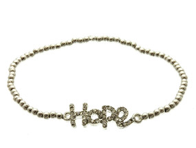 Hope Stretch Bracelet - Silver