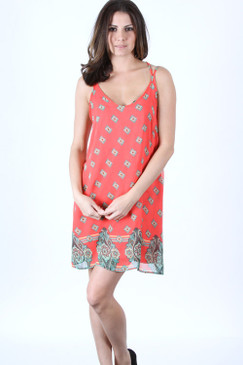 In Your Eyes Dress - Coral
