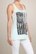Distressed Flag Tank - Aqua