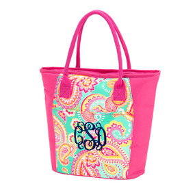 Summer Paisley Cooler Tote