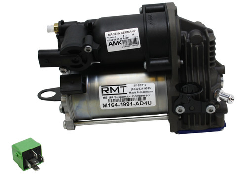 M164-1991-AD4U - Mercedes-Benz GL-Class X164 2007-2012 OEM NEW AMK Air Suspension Compressor & Relay Kit (1643201204)