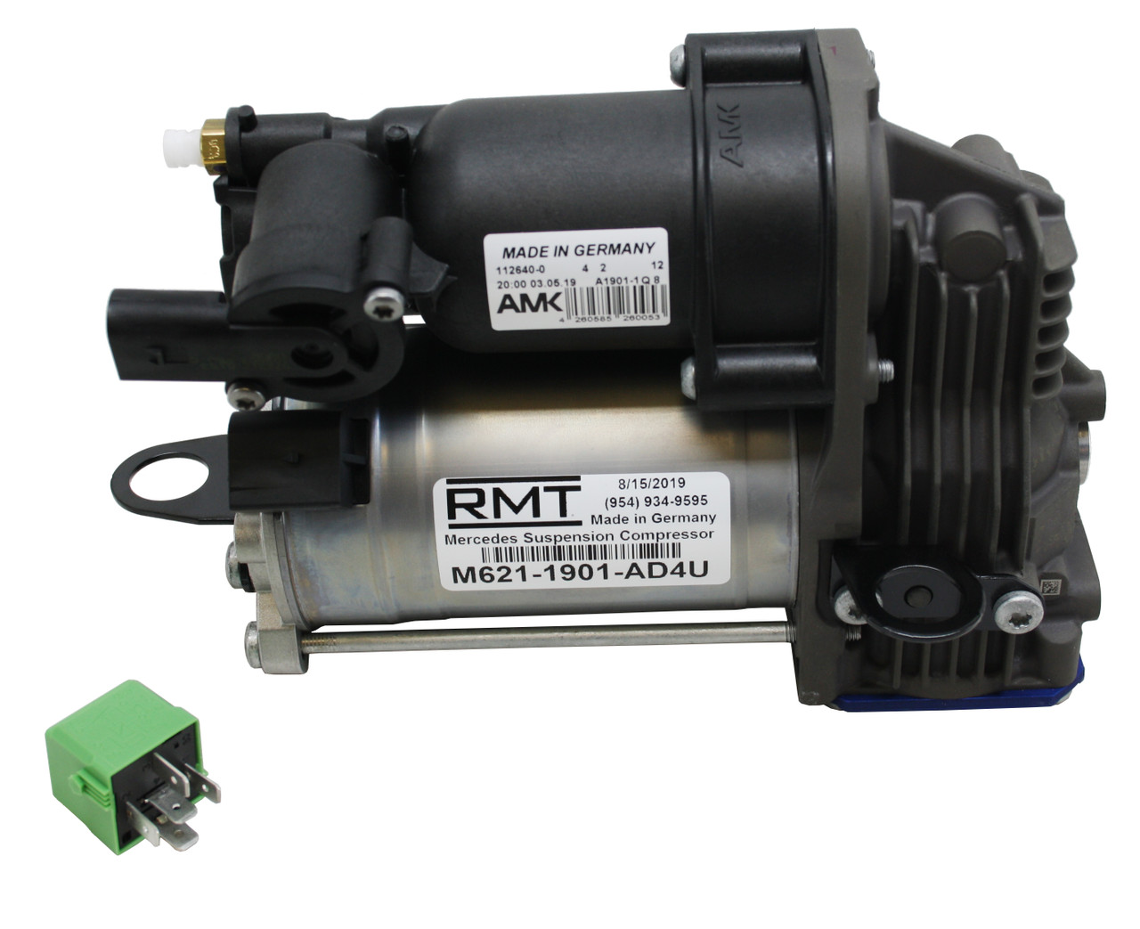 Mercedes-Benz S-Class W221 2007-2013 OEM NEW AMK Air Suspension Compressor  & Relay Kit (2213201604)