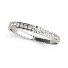 14K WHITE GOLD - 10 STONE CHANNEL SET DIAMOND WEDDING BAND (0.33CT)