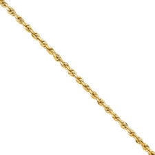 4K YELLOW GOLD - 2MM DIAMOND CUT SOLID ROPE CHAIN - 20 INCHES
