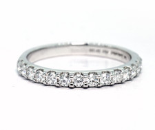 14K White Gold - 0.40ct -  Classic Shared Prong Diamond Wedding Band