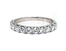 14K White Gold - 0.65ct - Shared Prong Diamond Wedding Band
