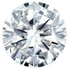 8mm Round Brilliant Cut Moissantite Gemstone - E color