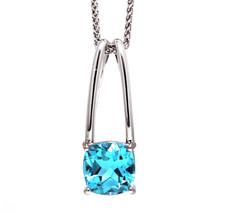 Breuning - Sterling Silver Tweezer Style Blue Topaz Fashion Pendant & Chain