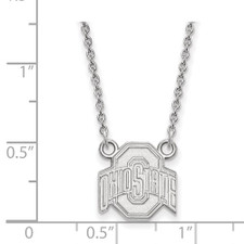 Sterling Silver - Ohio State University Necklace