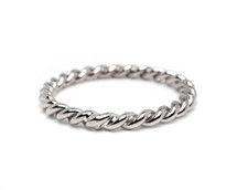 """Copy of 14K YELLOW GOLD - HAND MADE """"PERFECT BRAID"""" STACKABLE BAND"""
