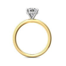 14K Yellow Gold - Martin Flyer - Oval Hidden Halo Solitaire Engagement Ring Setting