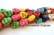 Magnesite Buddha Beads - 16 inch strand with 23 beads approximately per strand.