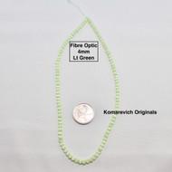 Fibre Optic - Cats Eye Glass - 4mm Round Beads - Lt Green