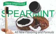 New Improved 100% Activated Charcoal Powder - Spearmint Flavor With Bamboo Toothbrush