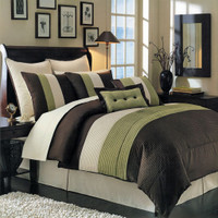 Sage Hudson Luxury 8-Piece Comforter Set
