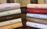 Egyptian Cotton Stripe 650 Thread Count Queen Waterbed Sheet Set