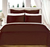 Solid Chocolate 550TC Egyptian cotton 8PC Bed in A bag