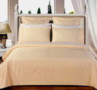 Solid Ivory 550TC Egyptian cotton 8PC Bed in a Bag
