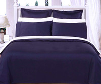 Solid Navy 550TC Egyptian cotton 8PC Bed in a Bag
