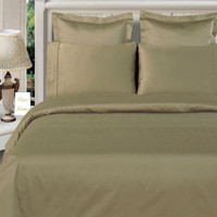 100% Bamboo Sage-Green Duvet Cover Sets