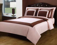 Blush/Pink & Chocolate Hotel Down Alternative Bed in a Bag