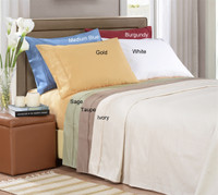 Egyptian Cotton 1000 Thread Count Stripe Pillowcase Sets - Standard