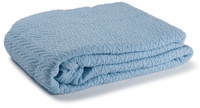 Charisma Cotton Throw - Light Blue