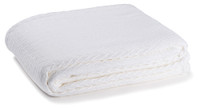 Charisma Cotton Throw - White