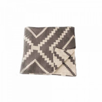 Zestt Contemporary Vernon Throw - Grey Fog