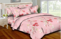 Pink Leaflets Bedding Set