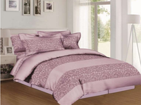 Lacy Stripes - Mauve Bedding Set