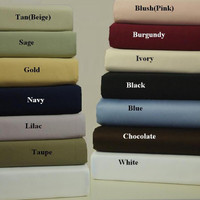 Egyptian  Cotton Solid 600 Thread Count XL Twin Sheet Set
