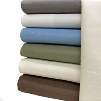Cotton Blend Woven Dots 600 Thread Count Full Sheet Set