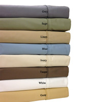 "Combed Cotton Blend 650 Thread Count 22"" Deep Pocket King Sheet Set"