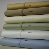 100% Combed Cotton 1000 Thread Count Solid California King Sheet Set