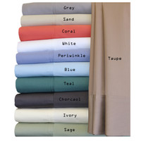 100% Bamboo Viscose 600 Thread  Count Olympic Queen Sheet Set