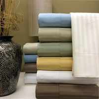100% Combed Cotton 1000 Thread Count Damask Stripe Olympic Queen Sheet Set
