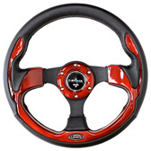320mm Sport Steering Wheel w/ Red Trim
