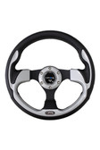 320mm Sport Steering Wheel w/ Silver Trim